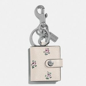 Coach Floral Picture Frame Bag Charm / Keychain